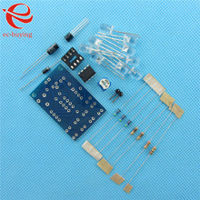 Blue Led 5MM Light LM358 Breathing Lamp Parts Kit Electronics DIY Kit Interesting Product Suite(China)