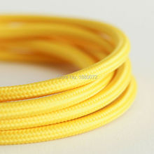 Free shipping vintage textile fabric electrical wire antique cloth covered braided cable 3 core2*0.75mm