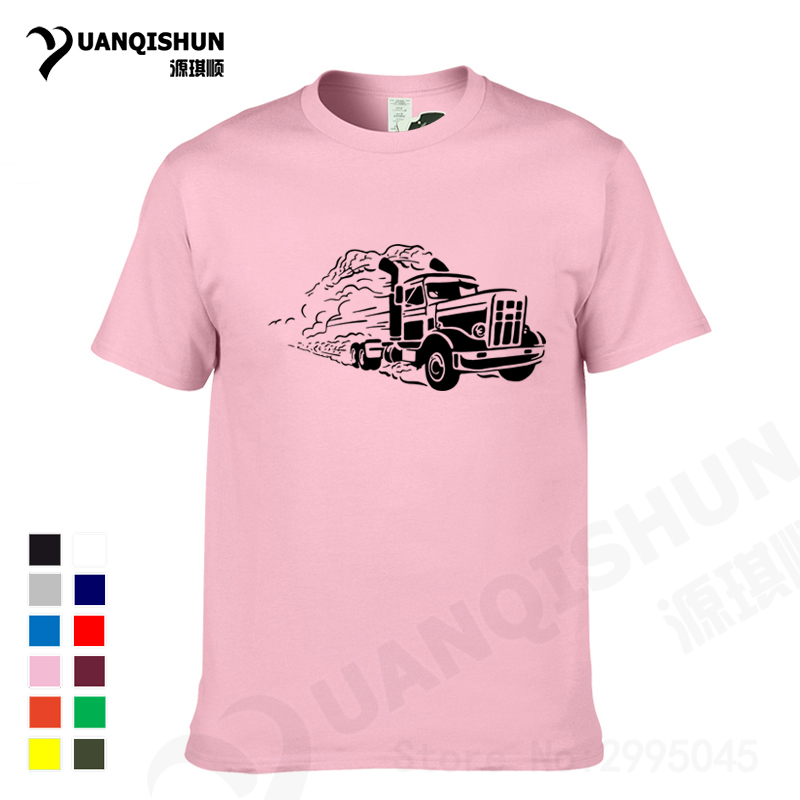 YUANQISHUN Truck Print Tshirt 2017 New Fashion Men/Women T-shirt Transformers Truck Print Hip Hop T Shirt Summer Tops Tees(China (Mainland))