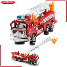 The new children of inertia toy car Large simulation fire truck model toys toy car toy cars