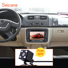 Seicane 2 Din Universal Radio DVD Player GPS Head Unit for 2004-2013 Skoda FABIA Bluetooth Phone USB SD Support Aux IPOD RDS
