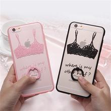 2015 New Cute Cartoon phone cases 3D Bud silk bra underwear pattern printed hard pc Cover For iphone 5 5s 5g 6 6S 6Plus 6s plus