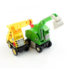 Kids Thomas and friends trains magnetic metal model railway loose lifting grab crane vehicles magnet gifts play toys for boys