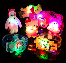 300pcs/lot Children's Day Cartoon Light-Up LED Bracelets Bangle Wristband Party Favors For Children Kids