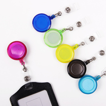 3PCS/lot High Quality Easy Pull Buckle Retractable Buckle Pass ID Card Badge Holder Reel Round Solid Translucent Pull Buckle(China)