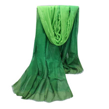 Fashion Lady Gradient Color Long Wrap Scarf Women's Shawl Pashmina Stole Scarves Cachecol feminino inverno Beach capes Shawls(China)