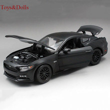 New arrival 1/18 Scale black Ford Mustang 2015 Alloy Diecast Car alloy diecast Car Model kids toy brinquedo gift with box