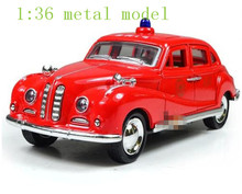 classic cars model alloy police car children gift kid toys pull back car open door light sound