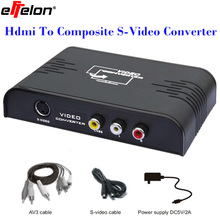Effelon HDMI To AV RCA Composite S-video Video R/L Audio Converter 720p 1080p with Charger Adapter