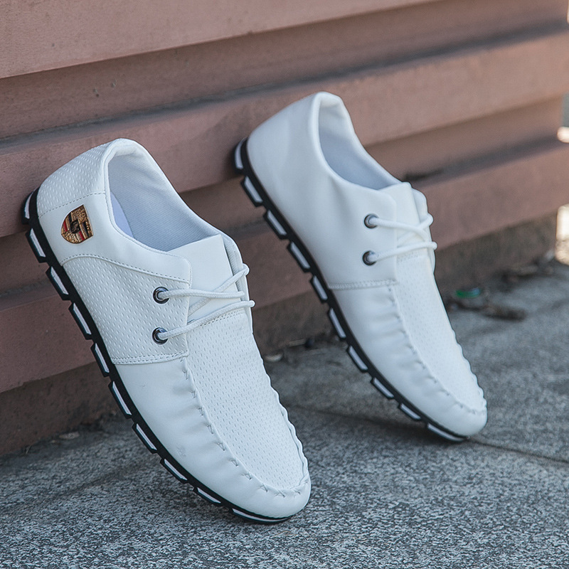 2017 New Brand Fashion Summer Soft Moccasins Men Loafers High Quality Genuine Leather Shoes Men Flats Gommino Driving Shoe5