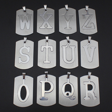 New Women/Men's Jewelry Stainless Steel Couple Letter O P Q R S T U V W X Y Z Pendant Short Necklace SS0000  Xmas Gift
