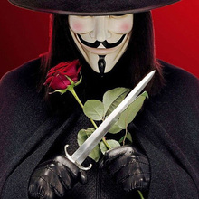1pc Generic V for Vendetta Mask Guy Fawkes Halloween Masquerade Party Face Costume Cosplay masque Mask Anonymous party toys