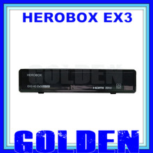 10pcs Herobox ex3 hd   HD DVB-S2/T2/C 751MHZ MIPS Processor 256MB Flash/512MB DDR3 hero box ex3  free shipping 10pcs