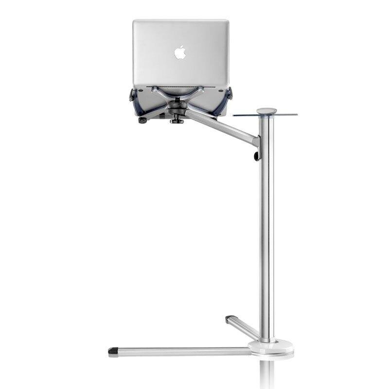 До-7 регулируемая высота напольная подставка для ноутбука Алюминий сплав вращающийся Тетрадь кровать Держатель с Мыши лоток для MacBook 10 -17 дю...(China)