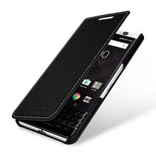 "Luxury Brand Genuine Leather Case for Blackberry KEYone PRESS 4.5"" Cover Fashion Plain Flip Phone Accessories Bag for DTEK70"