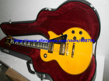 New Arrival Yellow Custom Electric Guitar With hard case wholesale guitars high quality cheap(China)