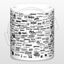 New  Rock Band Ceramic Coffee Mug White Color Or Color Changed Cup Classic Rock Band Logo
