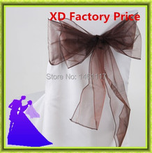 2016 new  arrival  Chair organza sash chair decoration tie for wedding  18*275cm