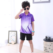 Free print Children Tennis clothes boy sports shirt , Sports children table tennis sets girl , Quick Dry Badminton clothes 5051(China)