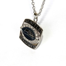 2017 Hot Selling Sport &fine Jewelry 2005 Seattle Seahawks Super Bowl Championship Pendants Necklace For Women & Men(China)