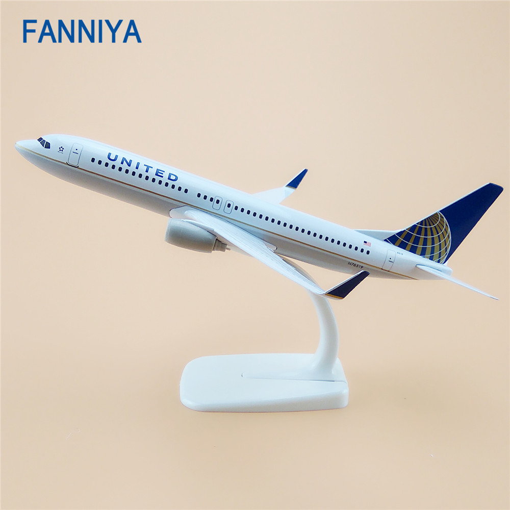 20cm Alloy Metal Air United Airlines Boeing 737 B737 Airways Model Plane Aircraft Airplane Model w Stand Gift(China (Mainland))