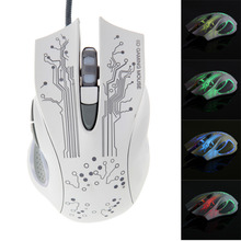 Promotion Adjustable DPI Switch 3200DPI Gaming Mouse LED Optical 6D USB Wired Gaming Game Mouse Pro Gamer Computer Mice(China)