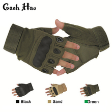 Tactical Fingerless Gloves Military Army Sports Shooting Paintball Airsoft Outdoor Carbon Knuckle Half Finger Gloves(China)