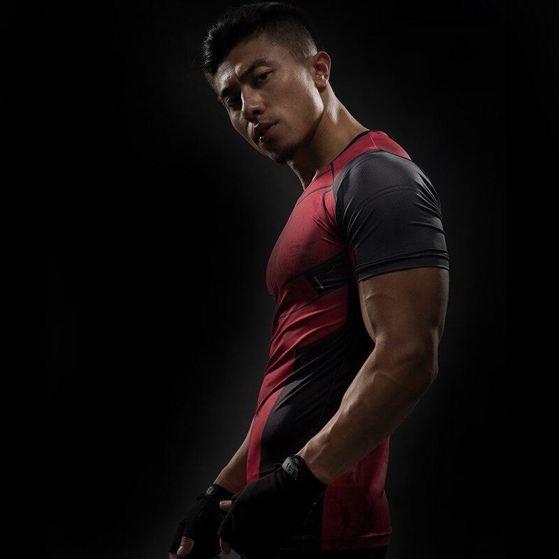 Short Sleeve 3D T Shirt Men T-Shirt Male Crossfit Tee Captain America Superman tshirt Men Fitness Compression Shirt Punisher MMA 49