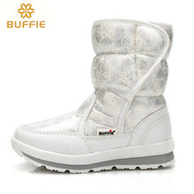 2017 winter's new Women snow boots Lady shoes  warm fur waterproof daughter girl white Buffie brand fashion shoes free shipping