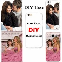 Custom Design DIY OEM Logo Photo Soft Silicone Phone Cases For iPhone 4S 5S 5C 6 6S 7 Plus Customized Cover For Samsung J5 S6 J3