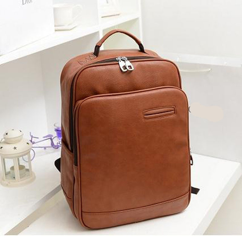 New College Wind leather Backpack men laptop backpacks women backpack man travel bags school computer bagpack bolsos<br><br>Aliexpress