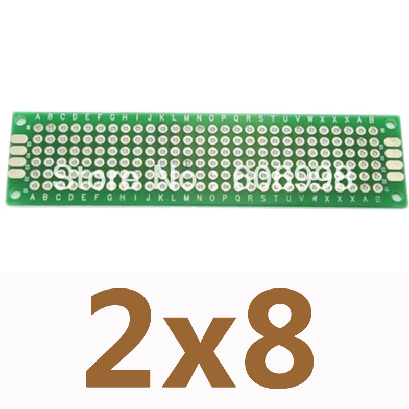 10pcs/lot 2*8cm Double Side Prototype Copper PCB Board Universal Printed Circuit Board Arduino Experimental Plate DIY