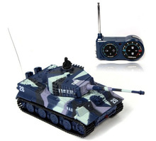 Hot Stock brand new Great Wall RC Battle Tank 14CH 1:72 Scale Remote Control Simulated Panzer Tiger Mini Tank Children Toys Gift