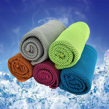 Zipsoft Cooling Towel Cold towels Sport towel 2017 lce fabric Gym towel Soft Breathable microfiber Fabric 30*100cm Free Shipping(China)