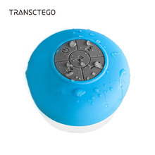 TRANSCTEGO Bluetooth Speaker Waterproof Portable Wireless Shower Bath Mini Subwoofer Handsfree Built-in Mic Buttons Suction Cup(China)
