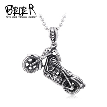 Super Deatil Motorcycle Necklace Pendant For Men High Quality 316L Stainless Steel BIker Punk Jewelry BP8-130 HD(China)