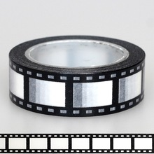 1X 15mm Tape Black White Negative camera film Print Scrapbooking DIY Sticker Decorative Masking Japanese Washi Tape Paper 10m
