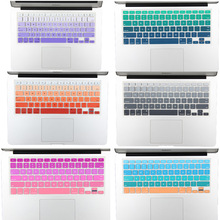 "NEW US Version Gradient Colorful Silicone Keyboard Cover for MacBook Air 13 Pro 13 15 17 Retina imac 21.5 27"" Keyboard Protector"