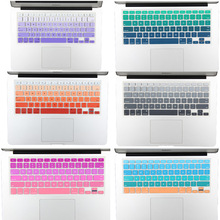 "NEW US Version Gradient Colorful Silicone Keyboard Cover for MacBook Air 13 Pro 13 15 17 Retina imac 21.5 27"" Keyboard Protector(China)"