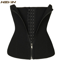 HEXIN Double Control Waist Trainer Corset Body Shaper Tummy Fat Burning for Hourglass Sweat Sauna Waist Trainer Slimming Belt(China)