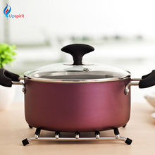 New Silicone Mat Heat Resistant Pad Stainless Steel Pot Holder Anti-slip Placemat For dining Table Modern Kitchen Accessories