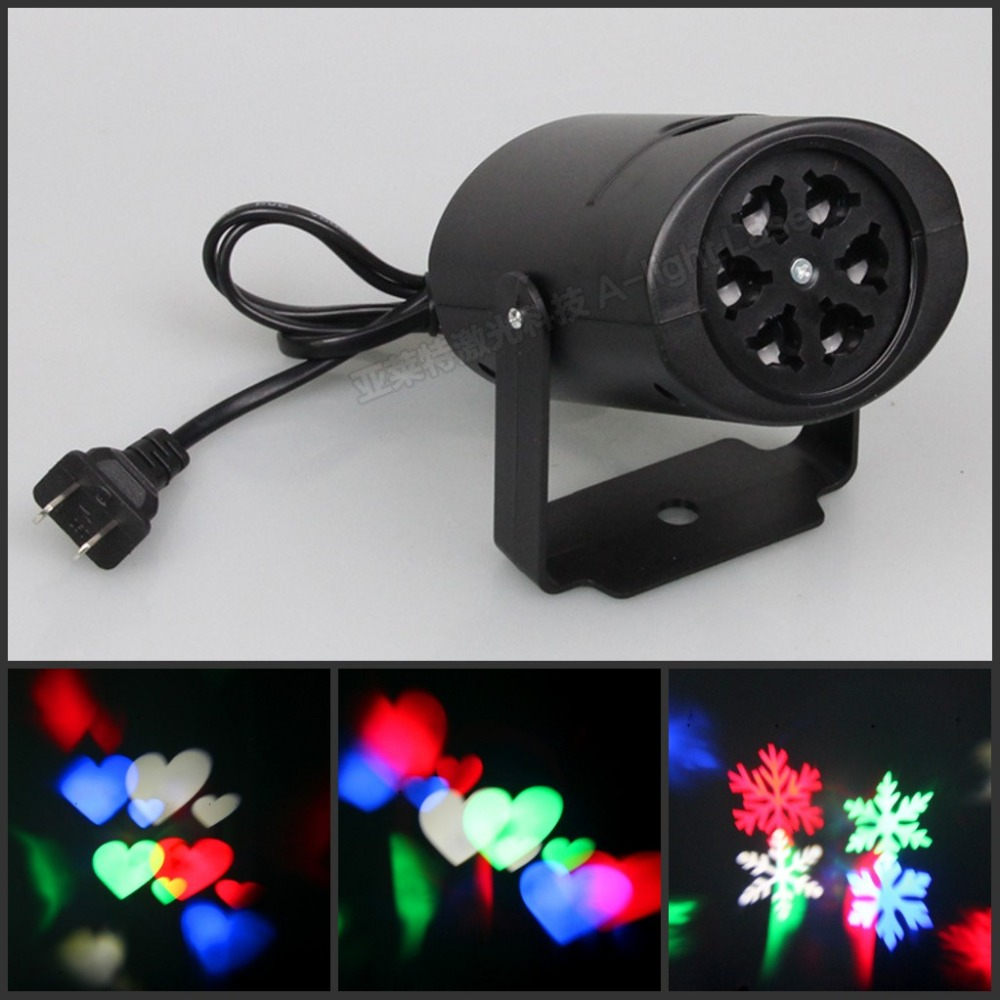 4W Snow love kaleidoscope Led Stage Lamp light Logo light <br><br>Aliexpress