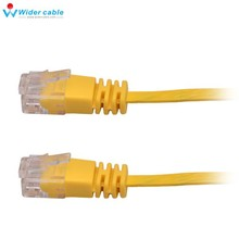 High Speed UTP Cable Netowrk Jumper Cable Twisted 15M Cable Internet Cable Yellow Color Thin CAT6