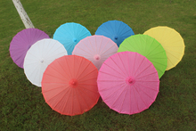 (20 pieces/lot) New solid color paper parasol Fancy out-door wedding parasols Diameter 23.6 inches 9 colors available