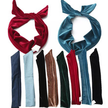 European Style AA Denim & Velvet Cloth Hair Accessories Women Casual Fashion Lady Headwear High Quality Accesorios Para El Pelo