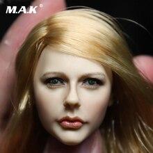 015ace6d088ed Personalizado 1 6 Avril Cabeça Esculpir Feminino CG CY Escultura Da Cabeça  Da Menina Do Cabelo Loiro Chloe Moretz para Kumik PH figura Acessórios em  Figuras ...