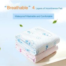 Twin bed  reusable and Waterproof Sheet Protector Breathable Adult Incontinence Bed Pad mattress protector Free Shipping