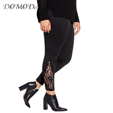 Buy DOMODA Plus Size New Fashion Women Clothing Basic Solid Streetwear Slim Pants Lace Inserts Big Size Leggings 3XL 4XL 5XL 6XL for $12.29 in AliExpress store