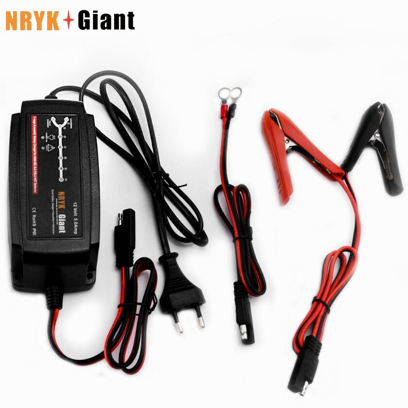 12V 5A Smart Car Battery Charger 7-stage Smart &amp; Automatic Battery Charger for AGM GEL WET Batteries 100-240V AC 50/60Hz<br>