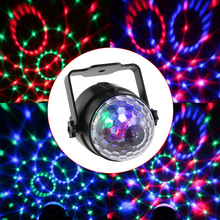 Hot 3W RGB Remote Control Mini LED Magic Ball Lamp UK/US/EU Plug Stage Effect Light for Disco KTV Club Bar Home Party(China)